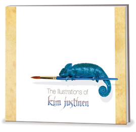 Illustrations of Kim Justinen Book Cover